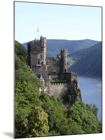 Rheinstein Castle Near Trechtingshausen, Rhine Valley, Rhineland-Palatinate, Germany, Europe-Hans Peter Merten-Mounted Photographic Print