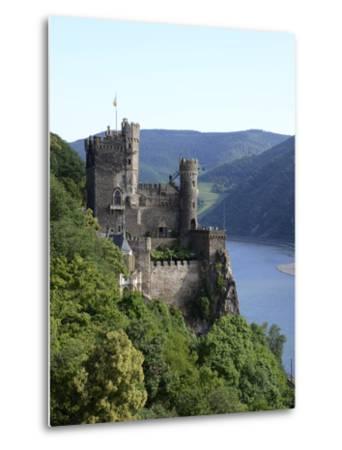 Rheinstein Castle Near Trechtingshausen, Rhine Valley, Rhineland-Palatinate, Germany, Europe-Hans Peter Merten-Metal Print