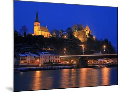 Od Town with Castle in Winter, Saarburg, Saar Valley, Rhineland-Palatinate, Germany, Europe-Hans Peter Merten-Mounted Photographic Print