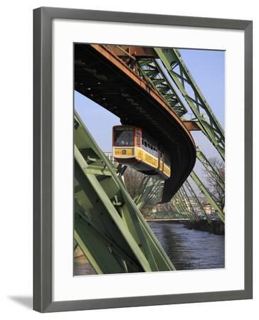 Overhead Railway over Th River Wupper, Wuppertal, North Rhine-Westphalia, Germany, Europe-Hans Peter Merten-Framed Photographic Print