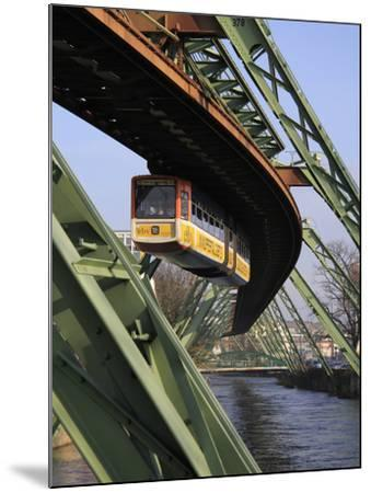 Overhead Railway over Th River Wupper, Wuppertal, North Rhine-Westphalia, Germany, Europe-Hans Peter Merten-Mounted Photographic Print