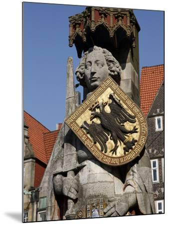 Statue of Roland, Market Square, UNESCO World Heritage Site, Bremen, Germany, Europe-Hans Peter Merten-Mounted Photographic Print