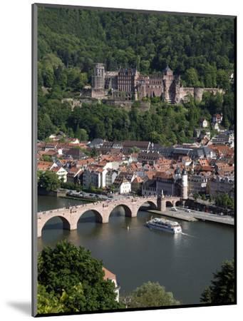 Old Bridge over the River Neckar, Old Town and Castle, Heidelberg, Baden-Wurttemberg, Germany, Euro-Hans Peter Merten-Mounted Photographic Print