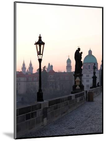 Charles Bridge, UNESCO World Heritage Site, Old Town, Prague, Czech Republic, Europe-Hans Peter Merten-Mounted Photographic Print
