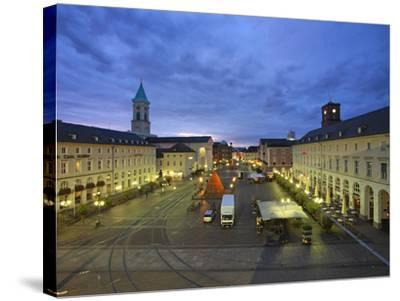 Market Square with Pyramide, Karlsruhe, Baden-Wurttemberg, Germany, Europe-Hans Peter Merten-Stretched Canvas Print