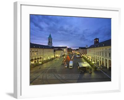 Market Square with Pyramide, Karlsruhe, Baden-Wurttemberg, Germany, Europe-Hans Peter Merten-Framed Photographic Print