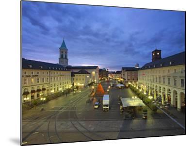Market Square with Pyramide, Karlsruhe, Baden-Wurttemberg, Germany, Europe-Hans Peter Merten-Mounted Photographic Print