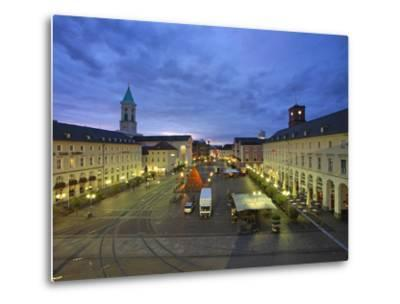 Market Square with Pyramide, Karlsruhe, Baden-Wurttemberg, Germany, Europe-Hans Peter Merten-Metal Print