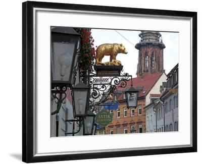 Salzstravue and Minster, Old Town, Freiburg, Baden-Wurttemberg, Germany, Europe-Hans Peter Merten-Framed Photographic Print