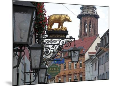 Salzstravue and Minster, Old Town, Freiburg, Baden-Wurttemberg, Germany, Europe-Hans Peter Merten-Mounted Photographic Print