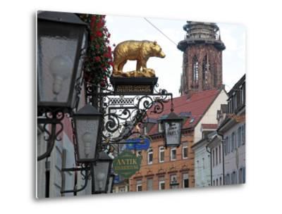 Salzstravue and Minster, Old Town, Freiburg, Baden-Wurttemberg, Germany, Europe-Hans Peter Merten-Metal Print
