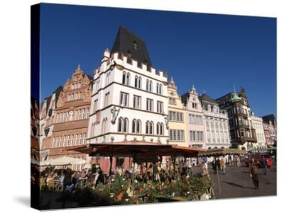 Market Square, Old Town, Trier, Rhineland-Palatinate, Germany, Europe-Hans Peter Merten-Stretched Canvas Print