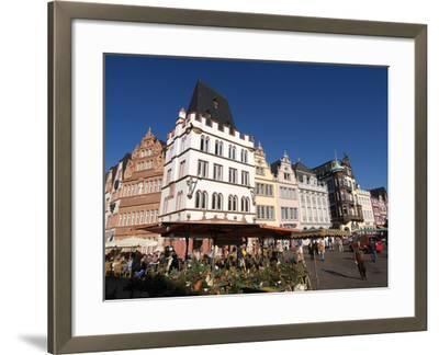 Market Square, Old Town, Trier, Rhineland-Palatinate, Germany, Europe-Hans Peter Merten-Framed Photographic Print