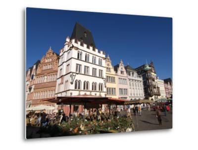 Market Square, Old Town, Trier, Rhineland-Palatinate, Germany, Europe-Hans Peter Merten-Metal Print