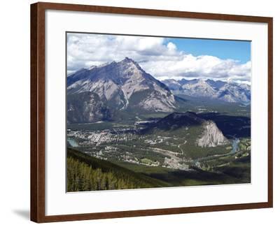 View from Sulphur Mountain to Banff, Banff National Park, UNESCO World Heritage Site, Alberta, Rock-Hans Peter Merten-Framed Photographic Print