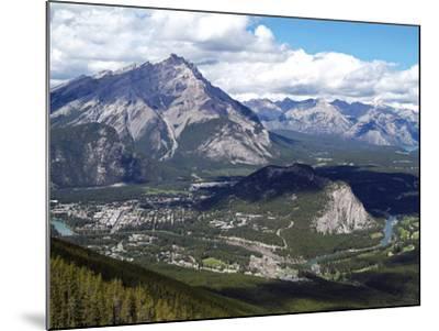 View from Sulphur Mountain to Banff, Banff National Park, UNESCO World Heritage Site, Alberta, Rock-Hans Peter Merten-Mounted Photographic Print
