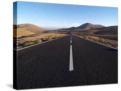 Road Near La Pared, Fuerteventura, Canary Islands, Spain, Europe-Hans Peter Merten-Stretched Canvas Print