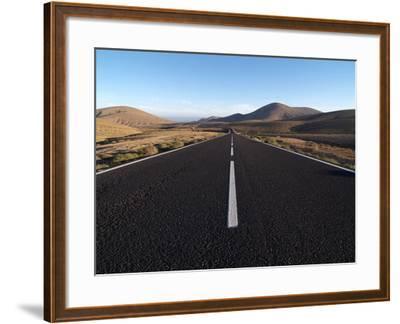 Road Near La Pared, Fuerteventura, Canary Islands, Spain, Europe-Hans Peter Merten-Framed Photographic Print