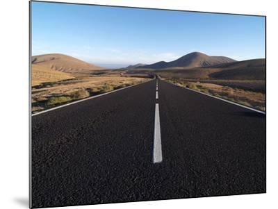 Road Near La Pared, Fuerteventura, Canary Islands, Spain, Europe-Hans Peter Merten-Mounted Photographic Print