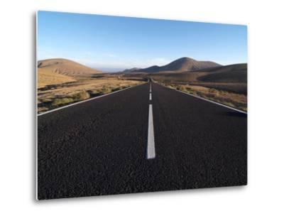 Road Near La Pared, Fuerteventura, Canary Islands, Spain, Europe-Hans Peter Merten-Metal Print