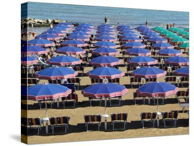 Beach at Cattolica, Adriatic Coast, Emilia-Romagna, Italy, Europe-Hans Peter Merten-Stretched Canvas Print