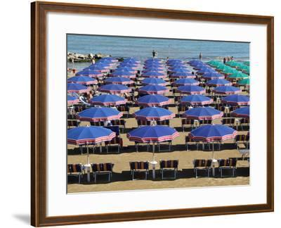 Beach at Cattolica, Adriatic Coast, Emilia-Romagna, Italy, Europe-Hans Peter Merten-Framed Photographic Print