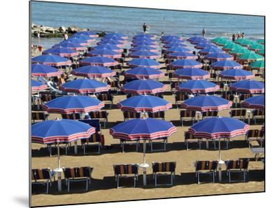 Beach at Cattolica, Adriatic Coast, Emilia-Romagna, Italy, Europe-Hans Peter Merten-Mounted Photographic Print