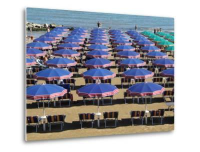 Beach at Cattolica, Adriatic Coast, Emilia-Romagna, Italy, Europe-Hans Peter Merten-Metal Print