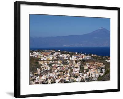 View over San Sebastian De La Gomera to Pico De Teide on Tenerife, Gomera, Canary Islands, Spain, A-Hans Peter Merten-Framed Photographic Print