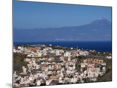 View over San Sebastian De La Gomera to Pico De Teide on Tenerife, Gomera, Canary Islands, Spain, A-Hans Peter Merten-Mounted Photographic Print