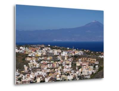 View over San Sebastian De La Gomera to Pico De Teide on Tenerife, Gomera, Canary Islands, Spain, A-Hans Peter Merten-Metal Print