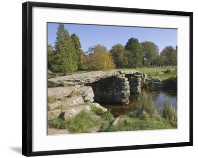 The Clapper Bridge at Postbridge, Dartmoor National Park, Devon, England, United Kingdom, Europe-James Emmerson-Framed Photographic Print