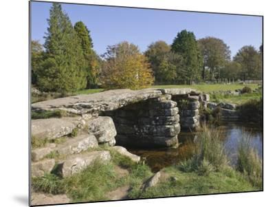 The Clapper Bridge at Postbridge, Dartmoor National Park, Devon, England, United Kingdom, Europe-James Emmerson-Mounted Photographic Print