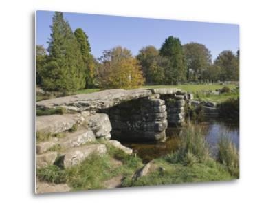 The Clapper Bridge at Postbridge, Dartmoor National Park, Devon, England, United Kingdom, Europe-James Emmerson-Metal Print