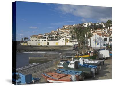 The Fishing Village of Camara De Lobos, a Favourite of Sir Winston Churchill, Madeira, Portugal, At-James Emmerson-Stretched Canvas Print