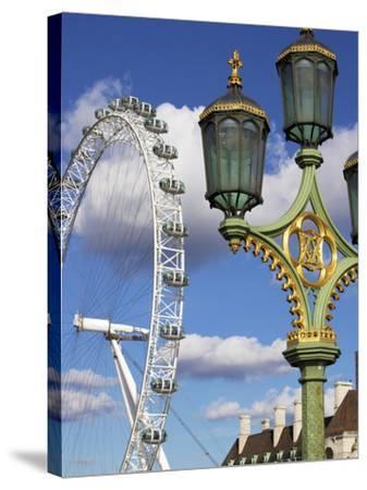 London Eye, London, England, United Kingdom, Europe-Jeremy Lightfoot-Stretched Canvas Print