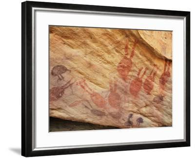 Rock Art, Split Rock, Leura, Queensland, Australia, Pacific-Jochen Schlenker-Framed Photographic Print
