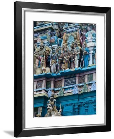 Hindu Temple Exterior, Colombo, Sri Lanka, Asia-Kim Walker-Framed Photographic Print