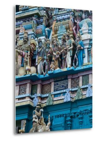Hindu Temple Exterior, Colombo, Sri Lanka, Asia-Kim Walker-Metal Print