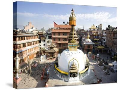Buddhist Stupa in the Old Part of Kathmandu Near Durbar Square, Kathmandu, Nepal, Asia-Lee Frost-Stretched Canvas Print