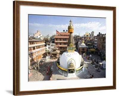 Buddhist Stupa in the Old Part of Kathmandu Near Durbar Square, Kathmandu, Nepal, Asia-Lee Frost-Framed Photographic Print