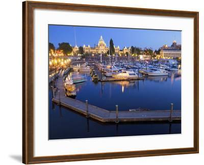 Inner Harbour with Parliament Building, Victoria, Vancouver Island, British Columbia, Canada, North-Martin Child-Framed Photographic Print