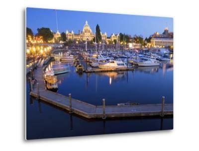 Inner Harbour with Parliament Building, Victoria, Vancouver Island, British Columbia, Canada, North-Martin Child-Metal Print
