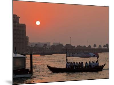 Abra Water Taxi, Dubai Creek at Sunset, Bur Dubai, Dubai, United Arab Emirates, Middle East-Neale Clark-Mounted Photographic Print