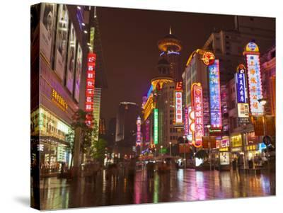 Neon Signs and Shoppers, Nanjing Road, Shanghai, China, Asia-Neale Clark-Stretched Canvas Print
