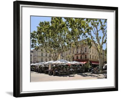 Alfresco Restaurants, Place De L'Horloge, Avignon, Provence, France, Europe-Peter Richardson-Framed Photographic Print