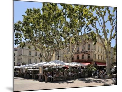 Alfresco Restaurants, Place De L'Horloge, Avignon, Provence, France, Europe-Peter Richardson-Mounted Photographic Print