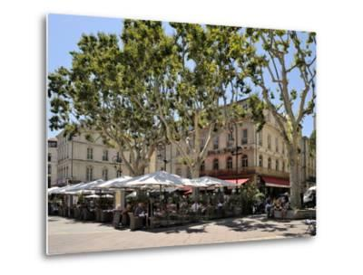 Alfresco Restaurants, Place De L'Horloge, Avignon, Provence, France, Europe-Peter Richardson-Metal Print