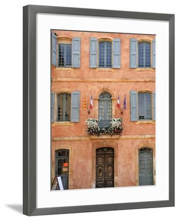 Mairie Office with Typical Ochre Coloured Walls, Roussillon, Parc Naturel Regional Du Luberon, Vauc-Peter Richardson-Framed Photographic Print