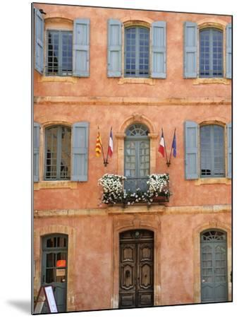 Mairie Office with Typical Ochre Coloured Walls, Roussillon, Parc Naturel Regional Du Luberon, Vauc-Peter Richardson-Mounted Photographic Print